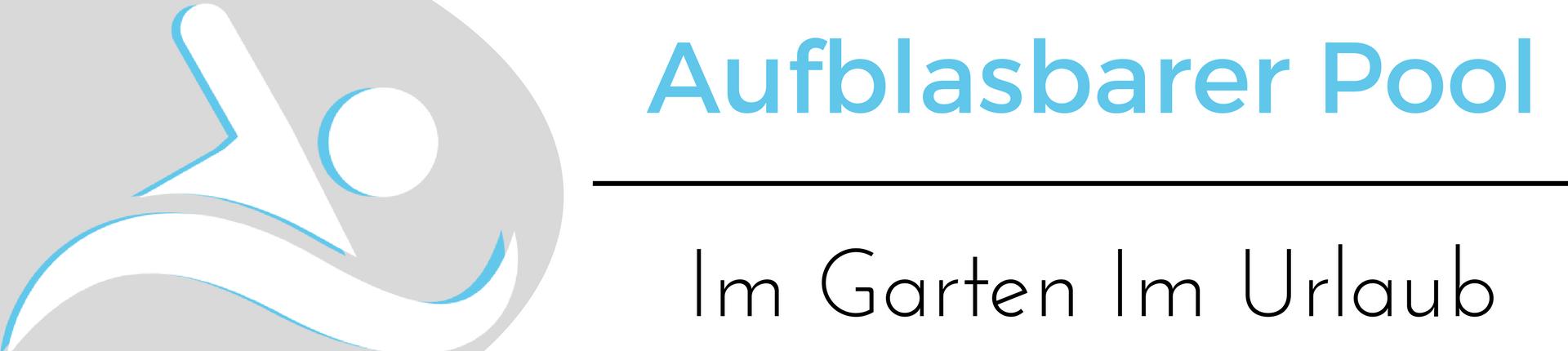 Das Logo von aufblasbarer Pool zeigt ein passendes Symblol und den Namen der Webseite