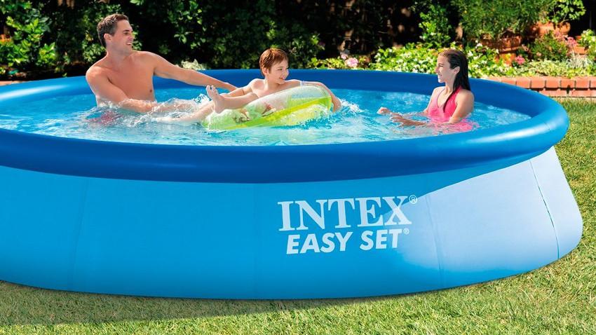 Aufblasbarer pool von intex infos kaufempfehlung und for Garten pool intex