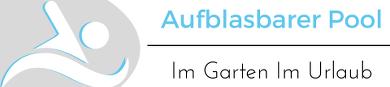 Logo der Webseite zeigt ein Symbol und den Name der Webseite aufblasbarer Pool