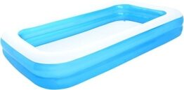 Das Bild zeigt die größte Ausführung des aufblasbaren pools von Bestway. Zu sehen is nur der Pool auf einem weißen Hintergrund